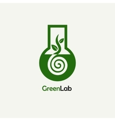 Green Lab Logo Emblem Template vector image