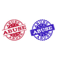 Grunge scratched abuse seal stamps vector