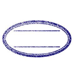 Grunge textured double ellipse frame vector