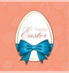 Happy easter background lettering eggs greeting vector