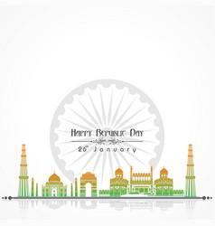 Happy republic day of india poster design vector