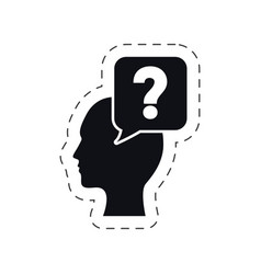 head bubble speech question mark vector image
