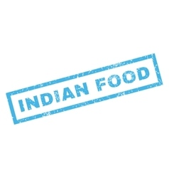 Indian Food Rubber Stamp vector