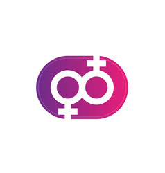 lesbian couple symbol icon vector image
