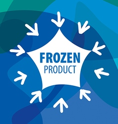 Logo for frozen foods in the form of stars and vector