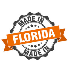 Made in florida round seal vector