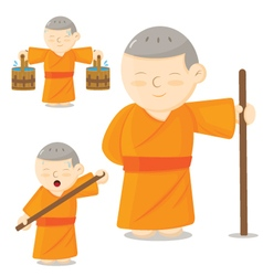 Monk cartoon vector