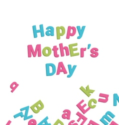 mothers day card alphabet vector image