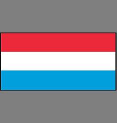 Netherland flag isolated on ba vector