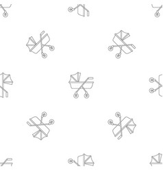 New baby carriage pattern seamless vector