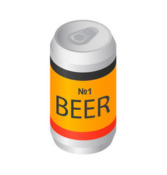 number one beer can icon isometric style vector image