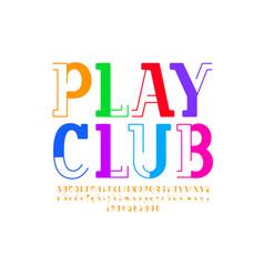 Original font modern trendy child alphabet vector