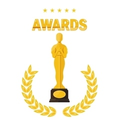 oscar film festival awards vector image