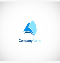 paper office company logo vector image