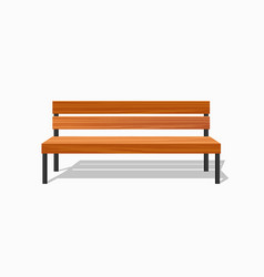 park wood benches and steel vector image vector image