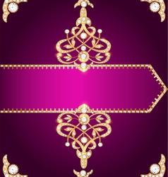 Purple cover for a book with gold vector