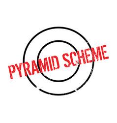 Pyramid scheme rubber stamp vector