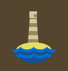 Realistic lighthouse building isolated on vector