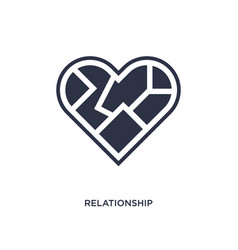 Relationship icon on white background simple vector