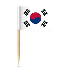 republic korea flag vector image