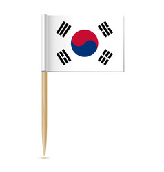 Republic of korea flag vector