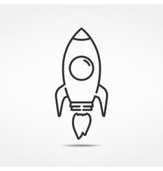 Rocket Line Icon vector
