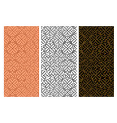 seamless curve red brick pattern in india style vector image