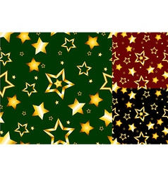 Seamless gold star pattern vector image