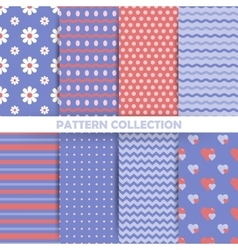 set seamless patterns in retro style vector image