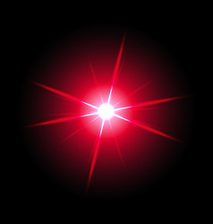 shining star on black background red color vector image