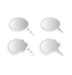 Shiny comics chat bubbles vector image