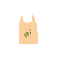 shopping reusable grocery cloth bag with green vector image