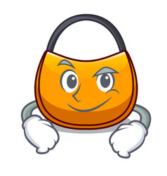 Smirking beautifully hobo bag on character funny vector