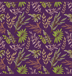 spring theme seamless pattern design with flower vector image
