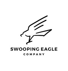 Swooping eagle logo doodle icon vector