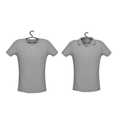 t-shirt and polo grey color mockup for design vector image