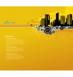 Template with city vector