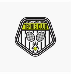 Tennis club badge logo-12 vector