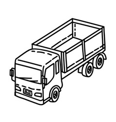 truck icon doodle hand drawn or outline icon style vector image