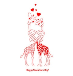 Two lovers giraffe vector image