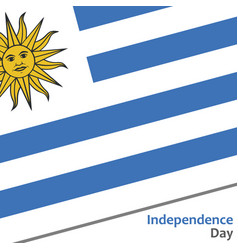 Uruguay independence day vector
