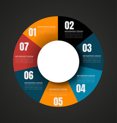 Wheel chart with place for text vector