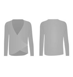 Women grey long sleeve shirt vector
