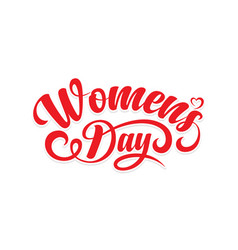 Womens day calligraphic text vector