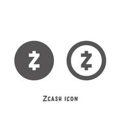zcash cryptocurrency icon simple flat style vector image