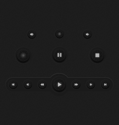 Dark Web UI Elements buttons vector image