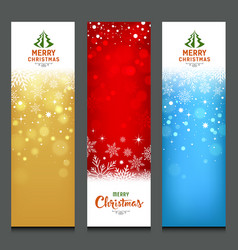 merry christmas colorful banners design vertical vector image vector image