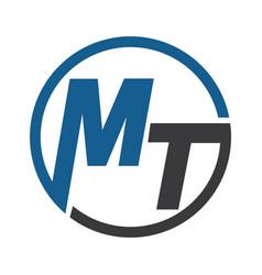 mt business logo design vector image