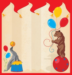 performing animals circus vector image