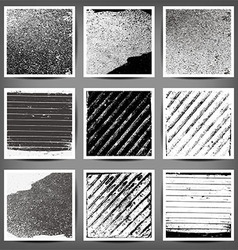 set of black and white grunge backgrounds vector image vector image